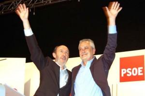 Alfredo Rubalcaba junto a José Antonio Griñán
