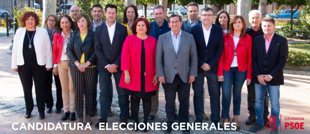 Candidatura del PSOE a las Elecciones Generales 2019